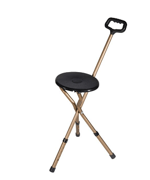 Drive Medical Folding Lightweight Adjustable Height Cane Seat review