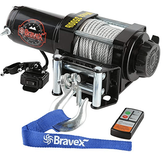 3600 lb Extreme Max 5600.3075 Bear Claw ATV//UTV Deluxe Winch Package
