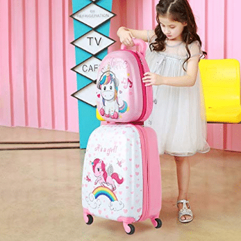 Goplus 2Pc 12 16 Kids Carry On Luggage Set review