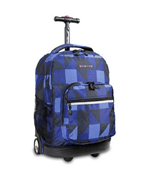 J World New York Sunrise Rolling Backpack review