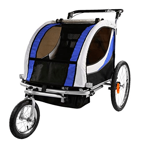 Clevr 3-in-1 Collapsible 2 Seat Double Bicycle Trailer review